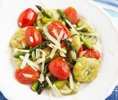 Kartoffelgnocci mit Spinat und Tomaten