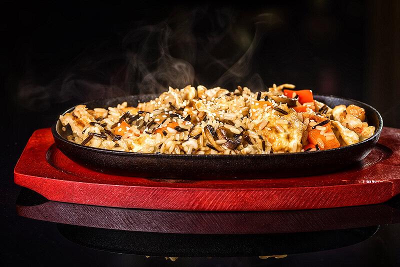 Basmatireis mit Rindfleisch-Curry