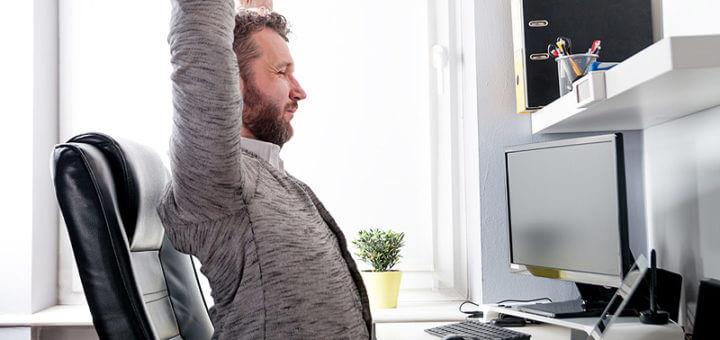 Ergonomie am Bildschirm-Arbeitsplatz