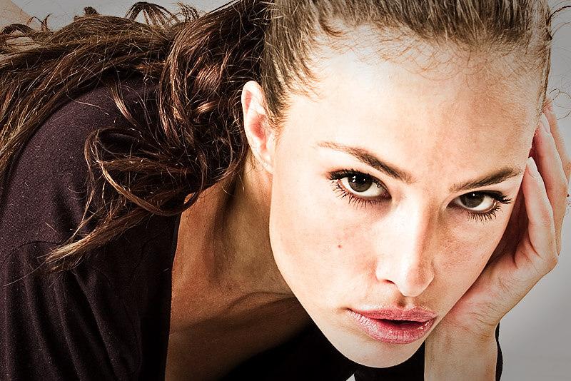 Frau mit postnatale Depression: Depression nach der Geburt