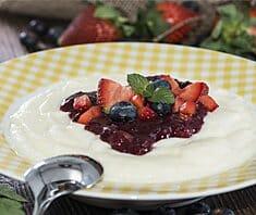 Erdbeer Grießflammerie | Rezept