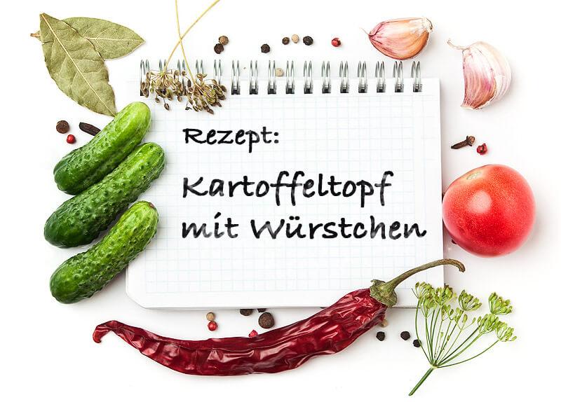 Kartoffeltopf mit Würstchen | Rezept
