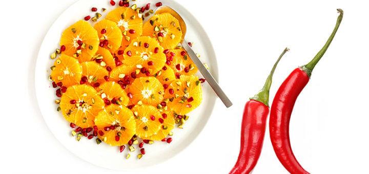 Granatapfelsalat mit Chili und Orangen | Rezept