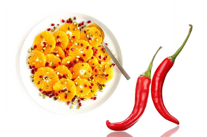 Granatapfelsalat mit Orangen und Chili | Rezept
