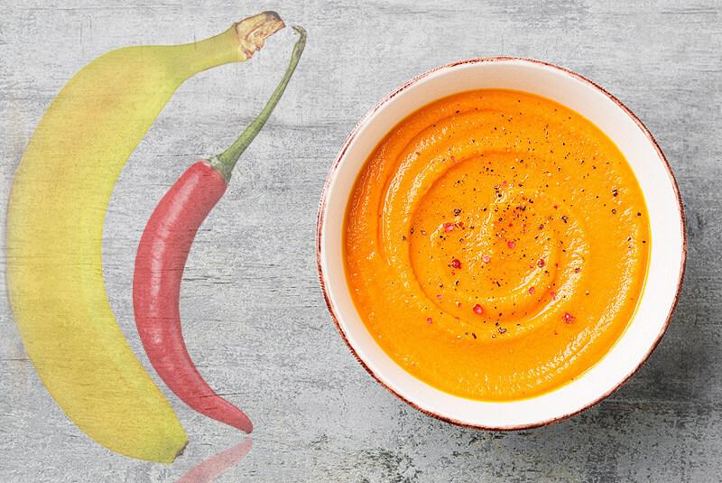 Bananensuppe mit Chili | Rezept