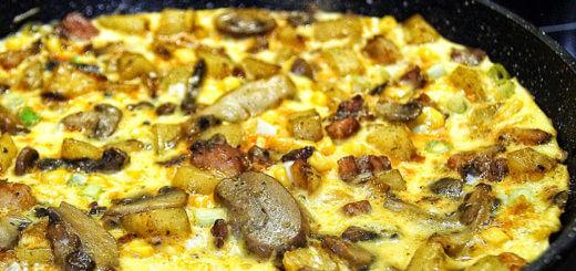Eierschwammerl-Omelett
