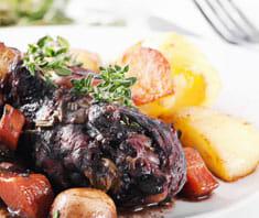 Huhn in Weinsauce | Rezept