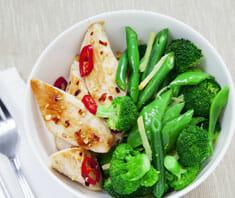 Hähnchenbrustfilet mit Broccoli und Reis