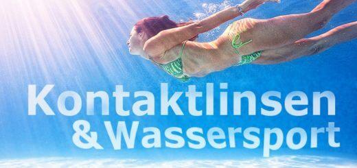 Kontaktlinsen und Wassersport