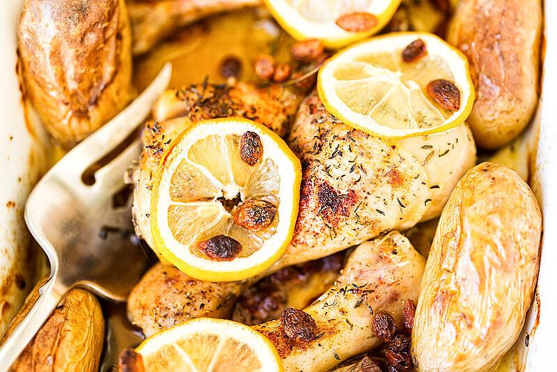 Saftiges Hähnchen mit Zitronen (Lemon Chicken)