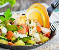Gemüse-Fischpfanne