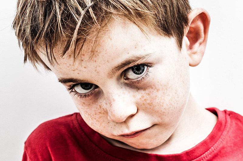 unglückliches Kind