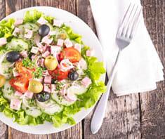 Frühlingssalat mit Schinken