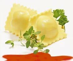 Käse-Spinat-Ravioli