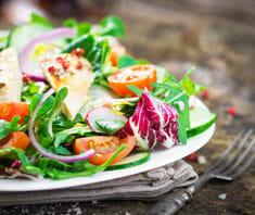 Kalbsfilet auf Salat