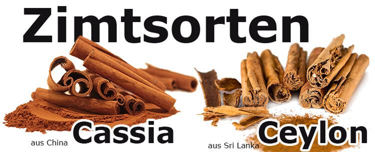 Ceylon und Cassia Zimt