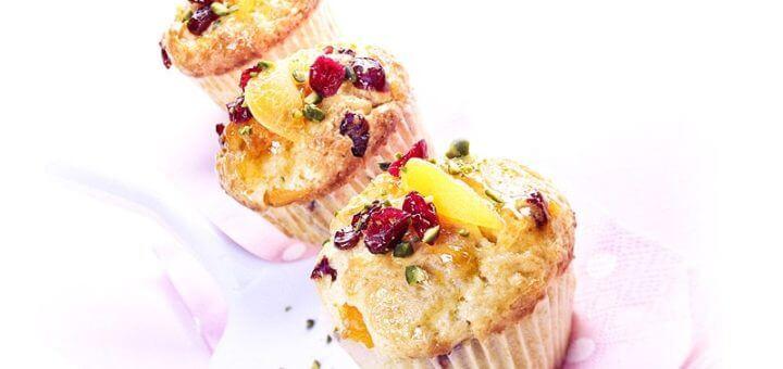 Marillen-Cranberry-Muffins | Rezept