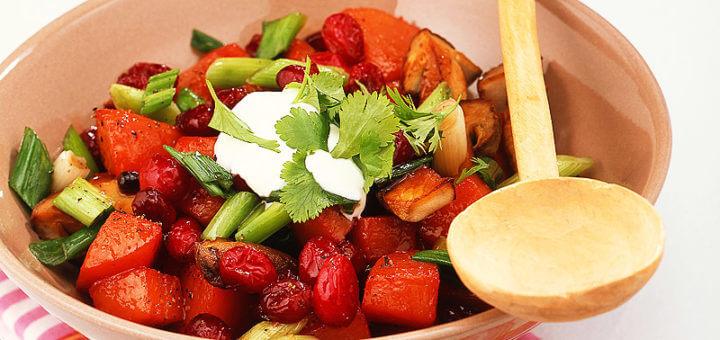 Kürbisragout mit Cranberries | Rezept