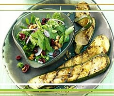 Zucchini, Cranberries, vegetarisches Rezept