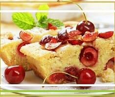 Kirschkuchen, Obstkuchen, Kuchenrezept