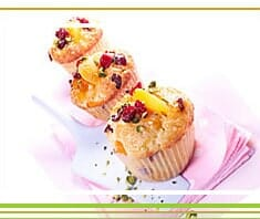Marillen, Cranberries, Muffins, copyright www.cranberries-usa.at