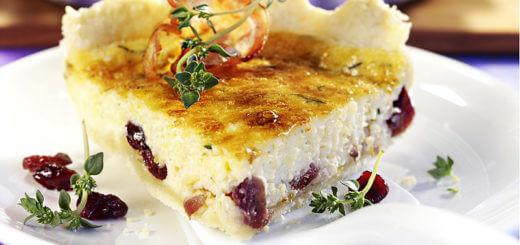 Quiche Lorraine mit Cranberries | Rezept