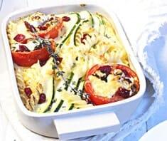 Zucchini-Auflauf mit Cranberries