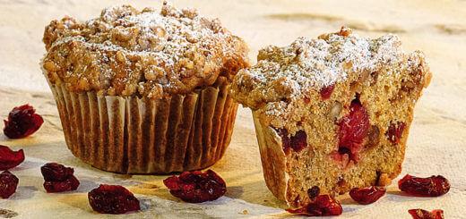 Köstliche Walnuss-Cranberry-Muffins