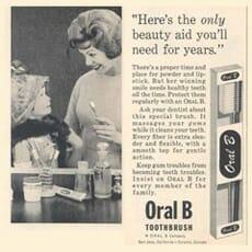 Oral-B Werbung aus 1962, Zahnpflege