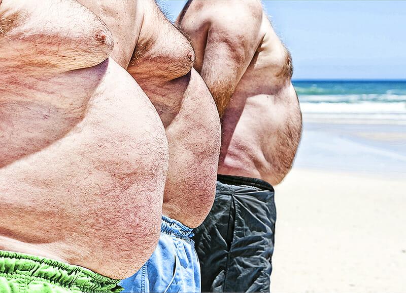 Übergewichtige Männer