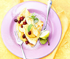 Birnen-Cranberry-Crepes