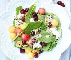 Melonen-Spinat-Salat mit Cranberries