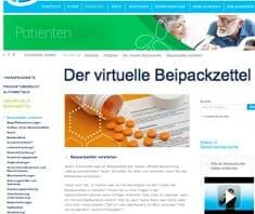 Virtueller Beipackzettel, Onlinetool