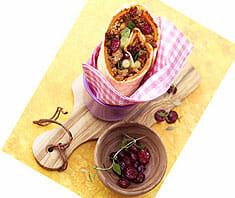 Fleisch-Kürbis-Wraps mit Cranberries