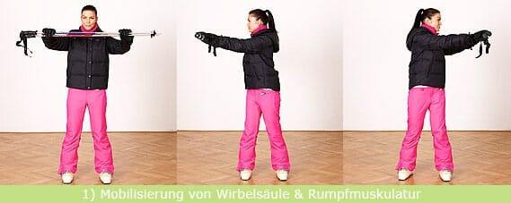 Stretching-Übung Wirbelsäule und Rumpfmuskulatur