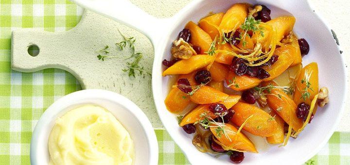 Zitronen-Karotten mit Kartoffelpüree   Rezept