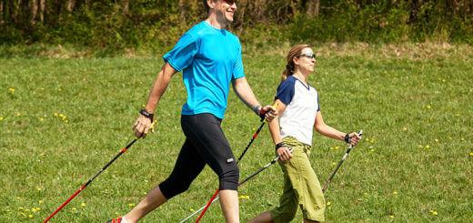 Nordic Walking für einen kräftigen Rücken