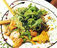 Eierschwammerl-Rucola-Salat