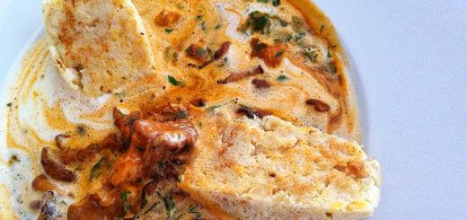 Eierschwammerlgulasch | Rezept