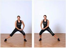 Stretchingübung für bessere Fitness auf der Piste