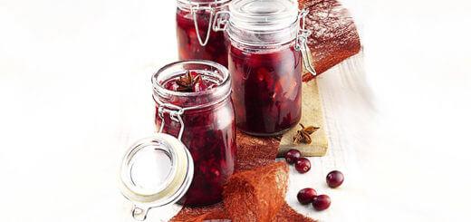 Glühwein-Cranberries | Rezept