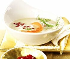 Fenchelcremesuppe mit Lachs