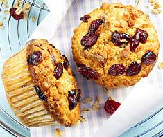 Müsli-Cranberry-Muffins