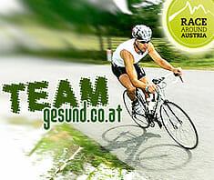 Race Around Austria – gesund.co.at als Hauptsponsor mit eigenem Team