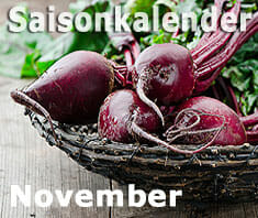 Saisonkalender Obst & Gemüse: November