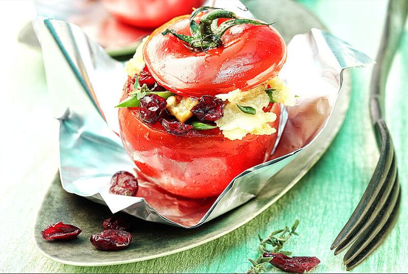 Gefüllte Paradeiser vegetarisch | Rezept