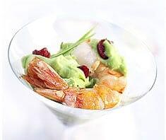 Guacamole mit gebratener Garnele