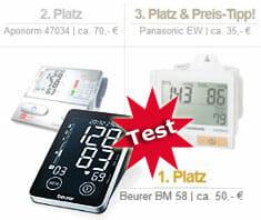Blutdruckmessgeräte im Test