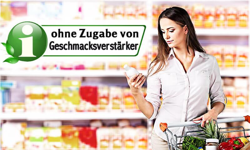 Geschmacksverstärker im Supermarkt erkennen