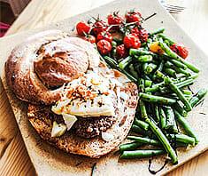 Burger mit Gorgonzola | Rezept